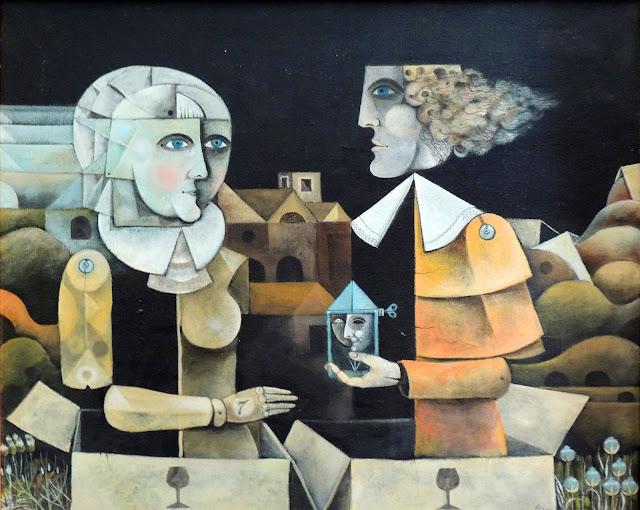Eduard Alcoy óleo sobre lienzo conversa