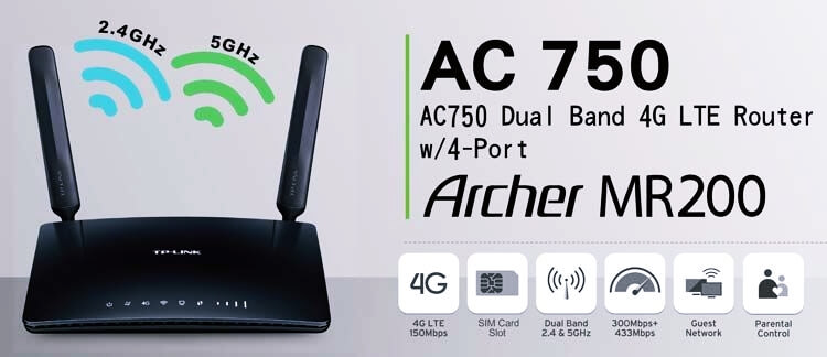 أفضل أنواع الراوتر - راوتر AC750 Wireless