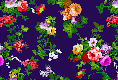 floral textile repeat 7039