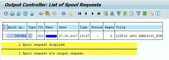 How to check the spool requests generated in SAP - Techrelam