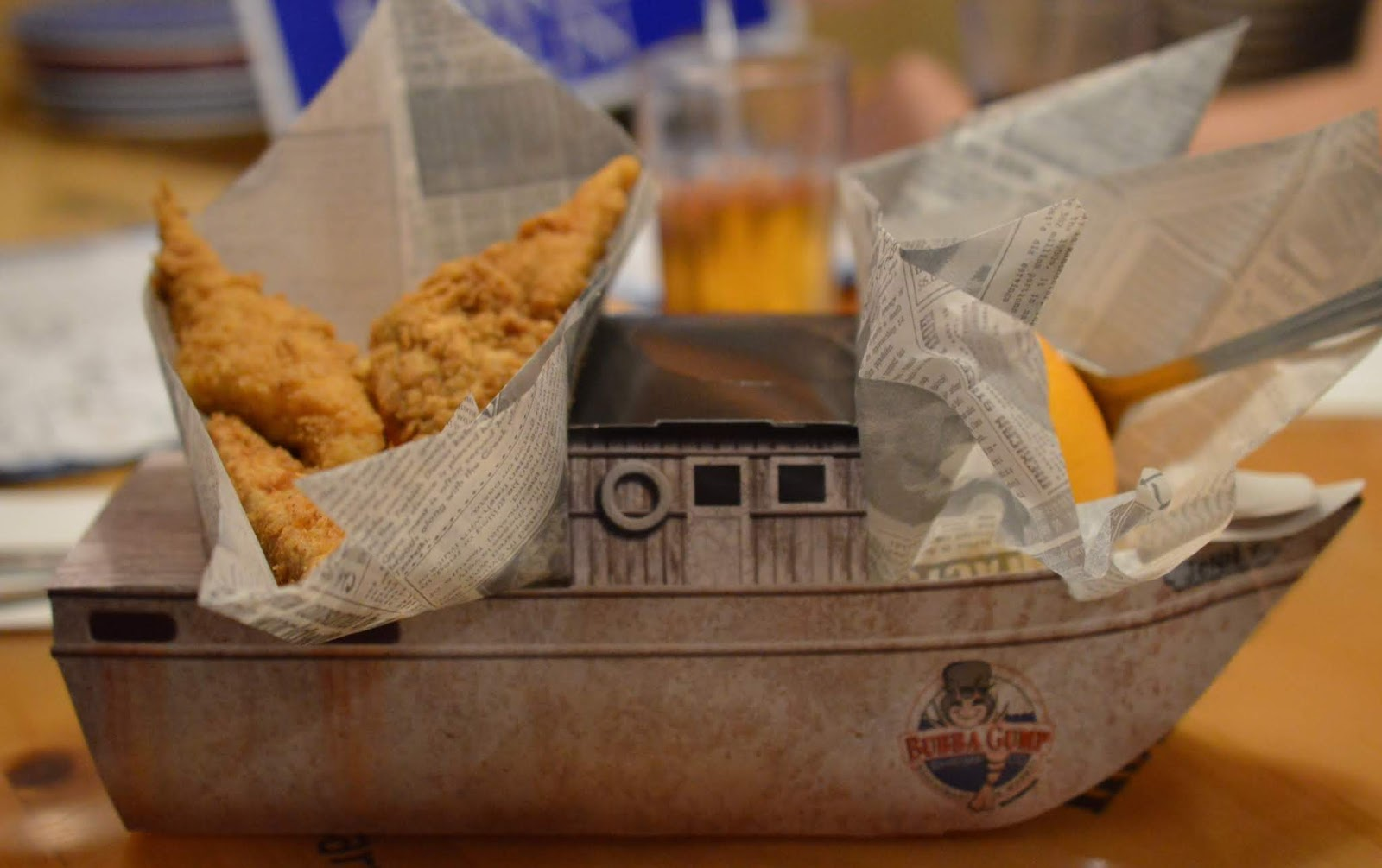 Dining with Kids in London   Bubba Gump Shrimp Leicester Square Review  - children's meal in shrimp boat