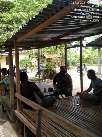 Jalin Keakraban Dengan Mitra Karib, Personel Jajaran Kodim 0208/Asahan Laksanakan Komsos Diwilayah Binaan