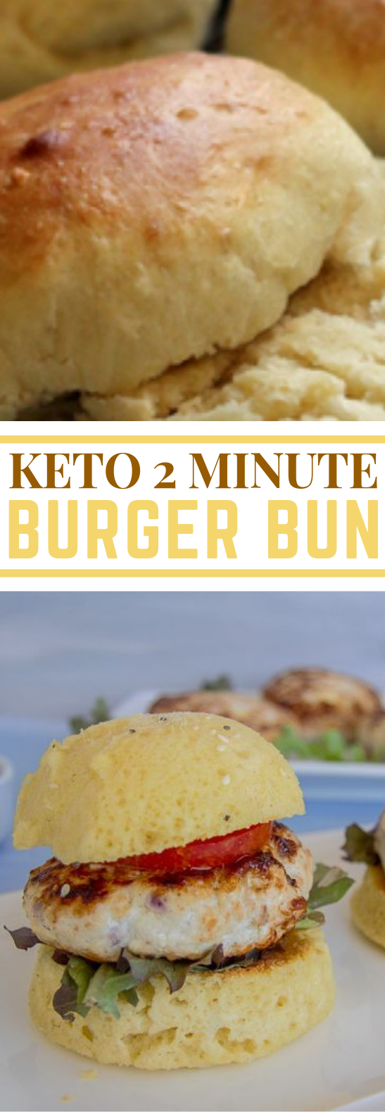 BEST KETO TWO MINUTE BURGER BUN #ketodiet #lowcarb