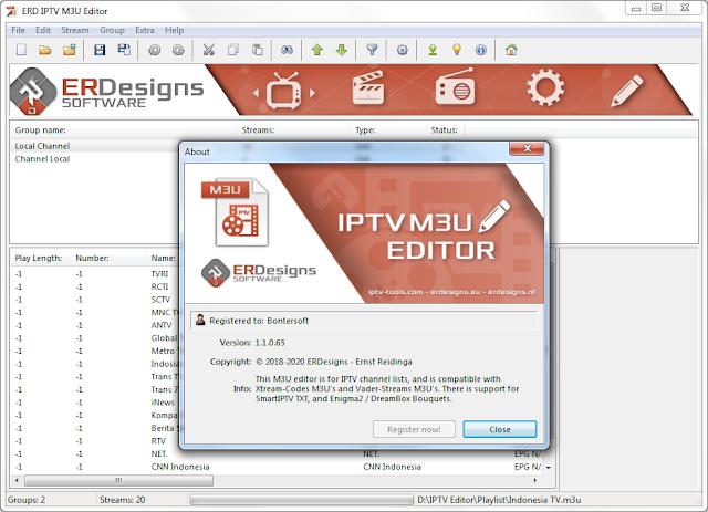 Screenshot ERDesigns IPTV M3U Editor 1.1.0.65 Full Version