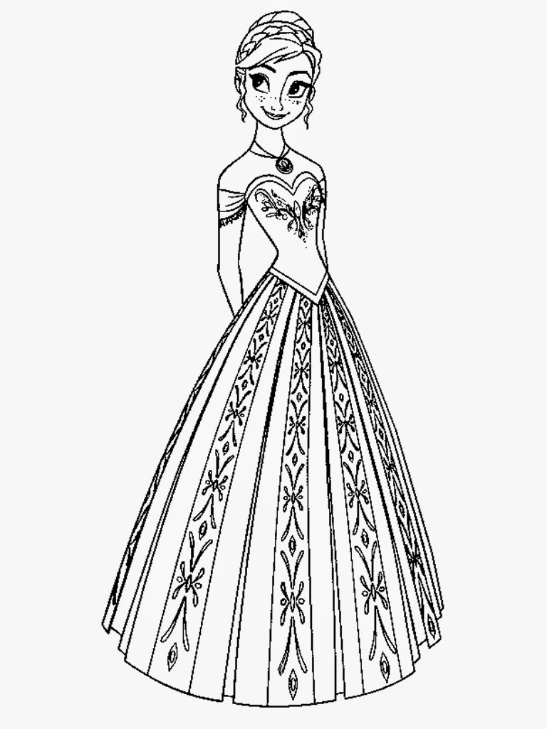 Downloads Frozen Coloring Pages Anna