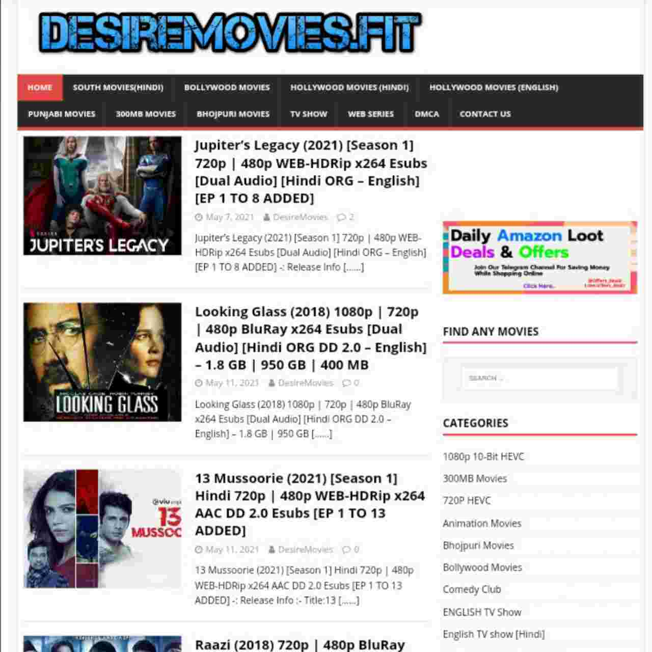 DesireMovies 2021 - Movies Downloading Website, Bollywood Hollywood South Hindi Dubbed Movies - Bhojpuriguru.in
