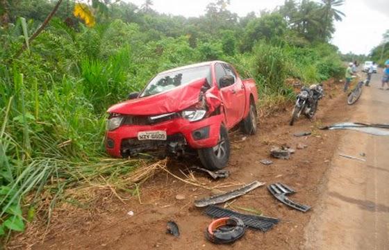 Presidente do PT baiano se envolve em acidente na BA-001