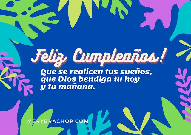 imagen feliz cumpleaños buenos deseos cristianos bendicion