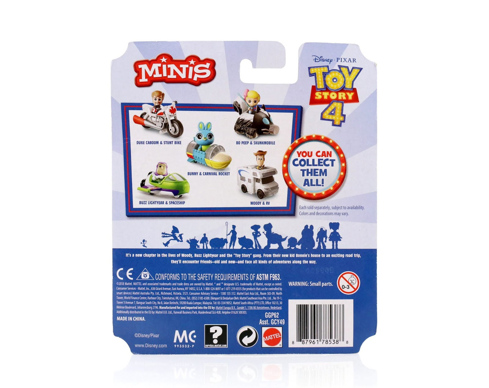 "Toy Story 4 ""Minis"" Vehicle carnival rocket"