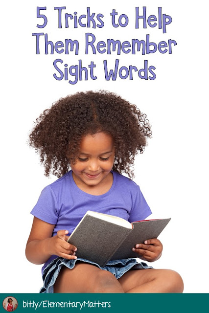 Sight Words: based on brain research, here are 5 different strategies to help little readers remember sight words.