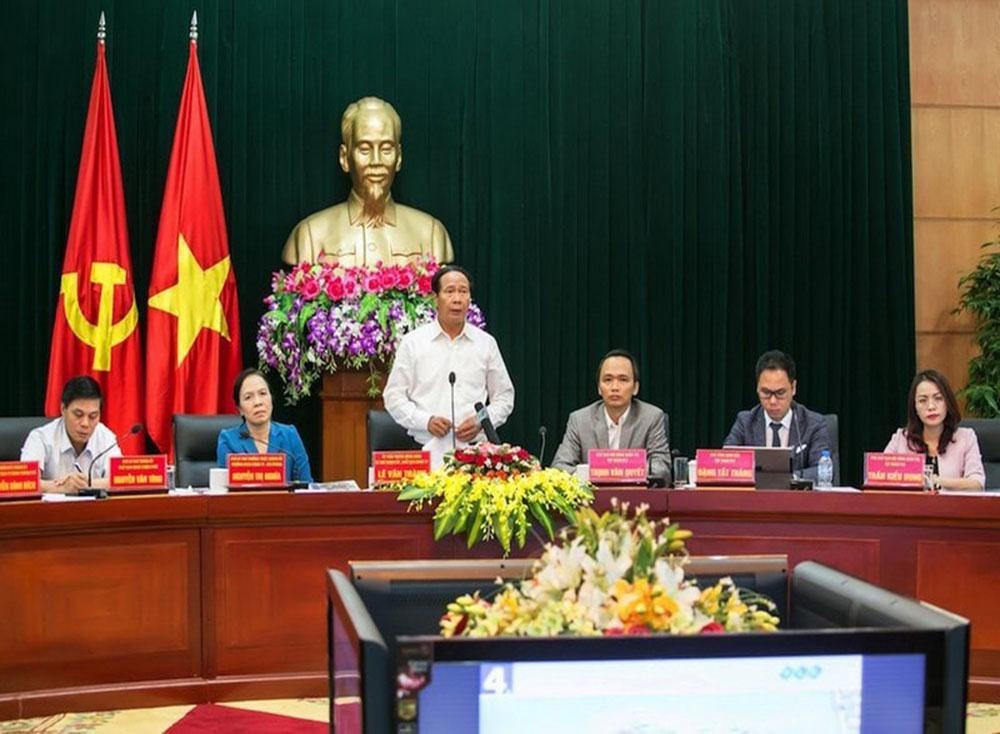 Ông Lê Văn Thành, Bí thư Thành uỷ, Chủ tịch HĐND thành phố Hải Phòng phát biểu kết luận Hội nghị