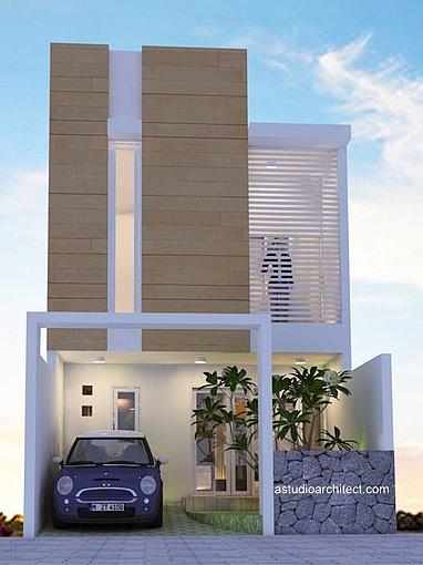 Desain rumah dengan kisi depan