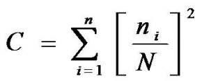nilai indeks dominasi digunakan rumus Simpson (1949)