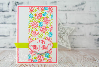 Cheerful Birthday Card featuring the Happy Birthday Gorgeous Stamps from Stampin' Up! UK