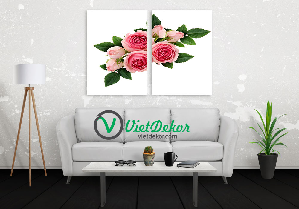 Tranh bộ treo tường hoa hồng
