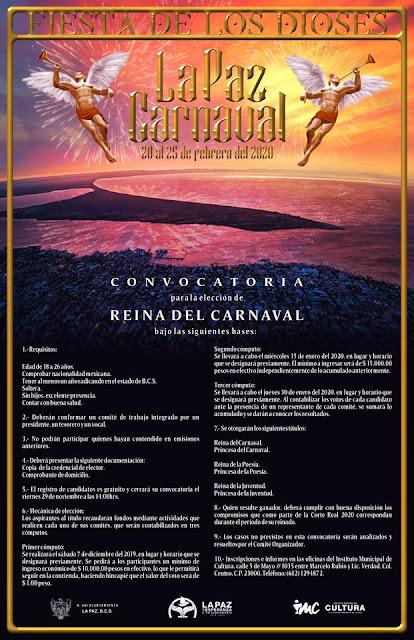 convocatoria juegos florales carnaval la paz 2020