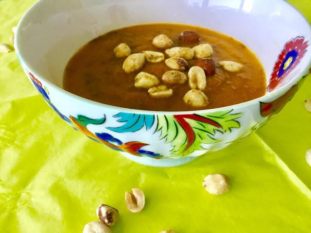 gluten free carrot peanut soup
