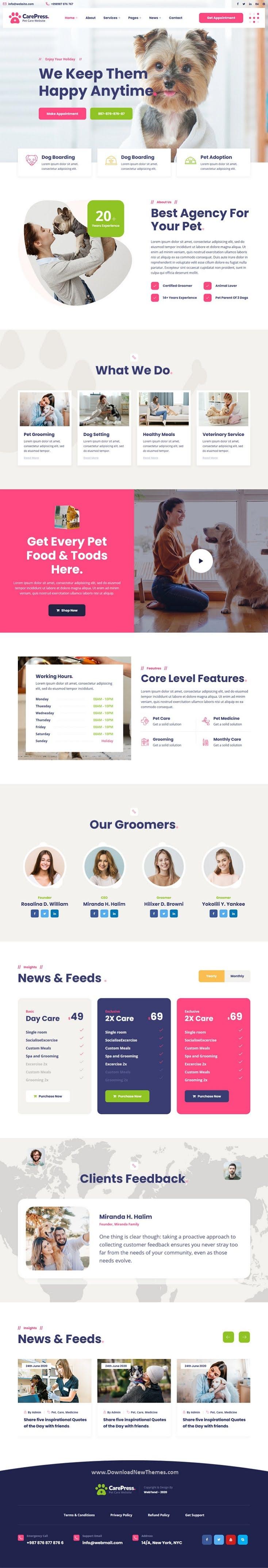 Pet Care & Veterinary Shop HTML Template