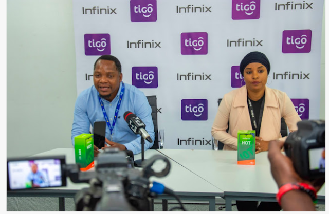 Tigo and Infinix partner to launch the Infinix Hot 10t in Tanzania