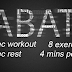 TABATA WORKOUT (HIIT TRANING)