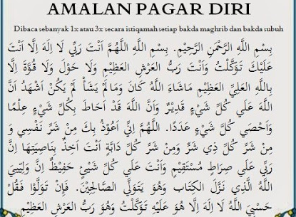 50 Doa Pagar Diri  Menurut islam dalam Al Qur'an