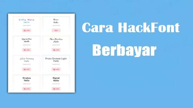 Cara Hack Font Berbayar