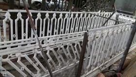 Railing, Tangga, Balkon, Besi, Tempa, Klasik,