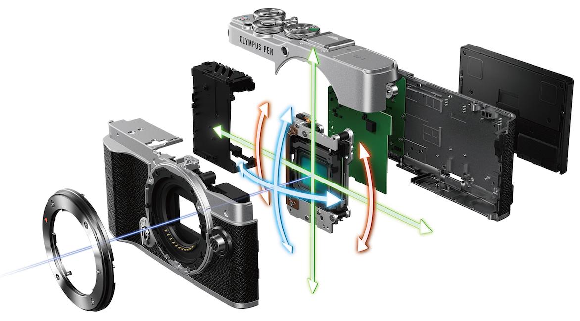 Внутренее устройство камеры Olympus E-P7
