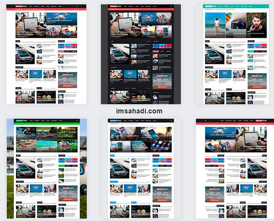 GalaxyMag Template Blogger News Magazine Keren