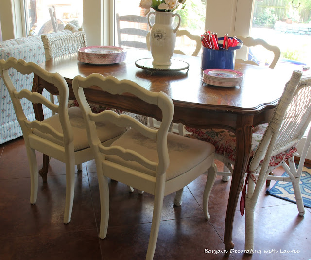 Painted Chairs-Bargain Decorating with Laurie