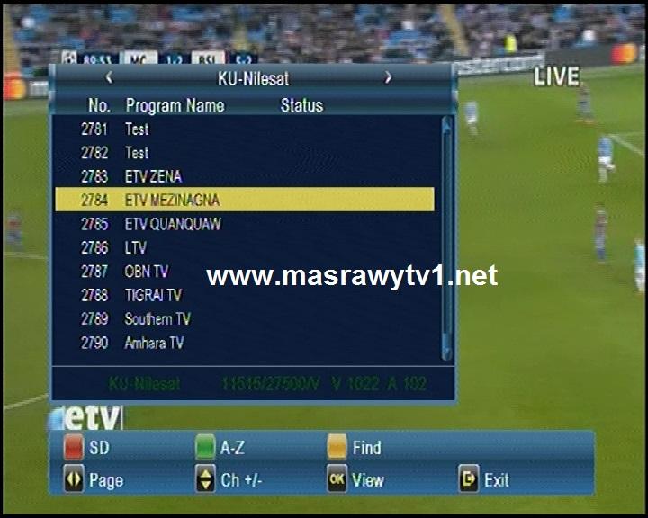Etv New Frequency On Nilesat