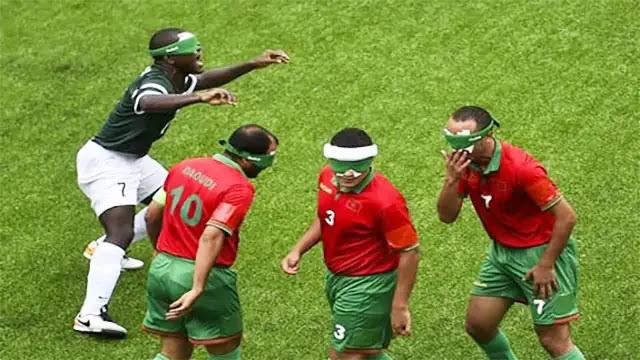 طوكيو: المنتخب المغربي لكرة القدم الخماسية للمكفوفين يخسر أمام نظيره البرازيلي