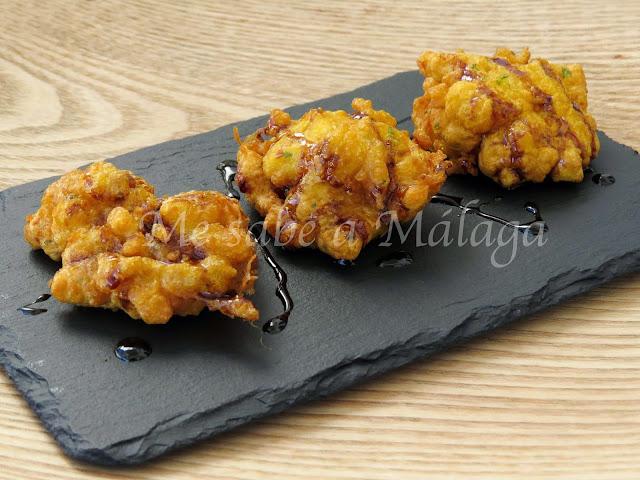 tortillitas bacalao miel caña Málaga