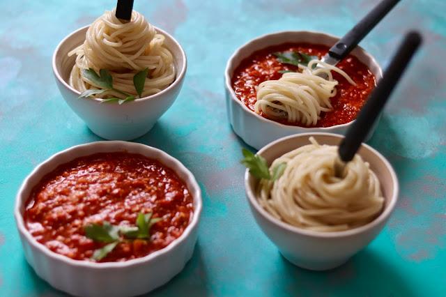 🍝 spaghetti z sosem bolońskim bez mięsa