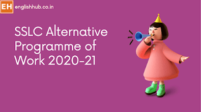 SSLC/10th Class Alternative Programme of Work 2020-21