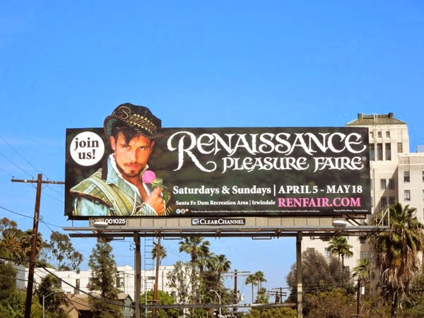 Renaissance Pleasure Faire 2014 billboard