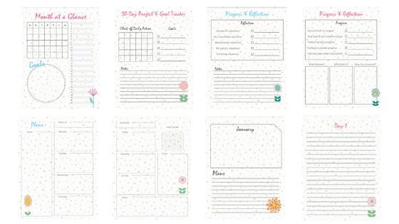 30 Day Project and Goal Planning Kit Printables