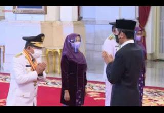 Dilantik Presiden Jokowi, Al Haris - Sani Sah Jadi Gubernur- Wagub Jambi