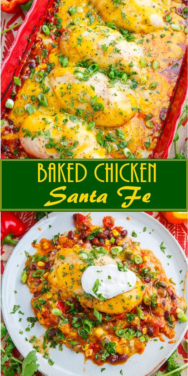 Baked Chicken Santa Fe #Dinnerrecipes