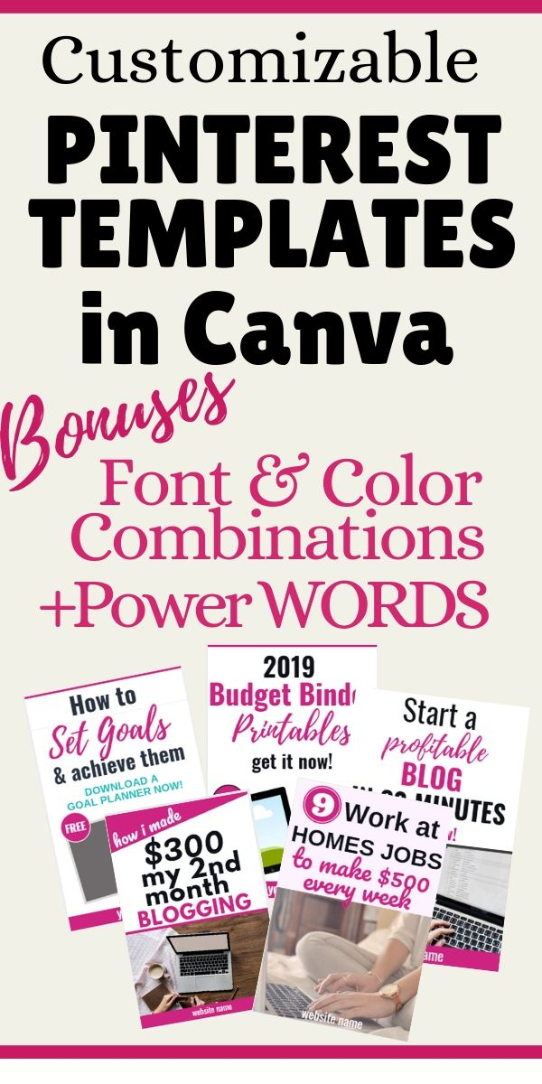 canva design. Pinterest templates. Pinterest pin templates for bloggers.