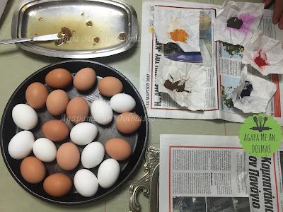 αυγα με μπογιες