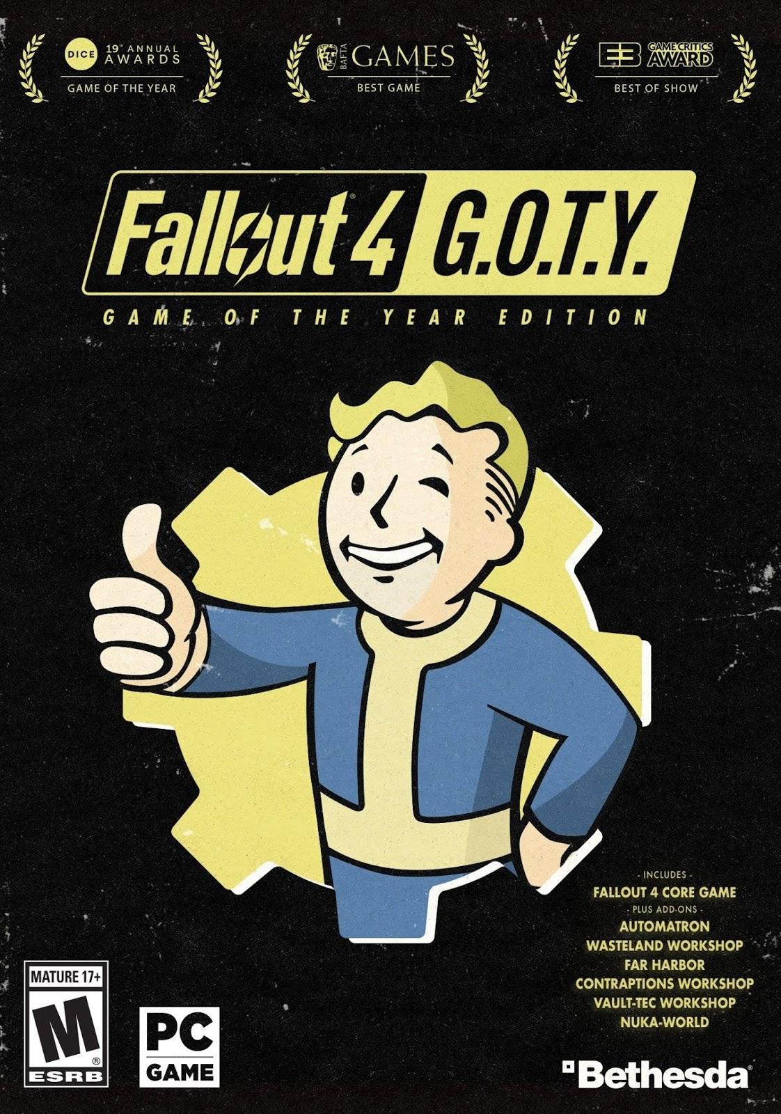 Descargar Fallout 4 GOTY PC Cover Caratula
