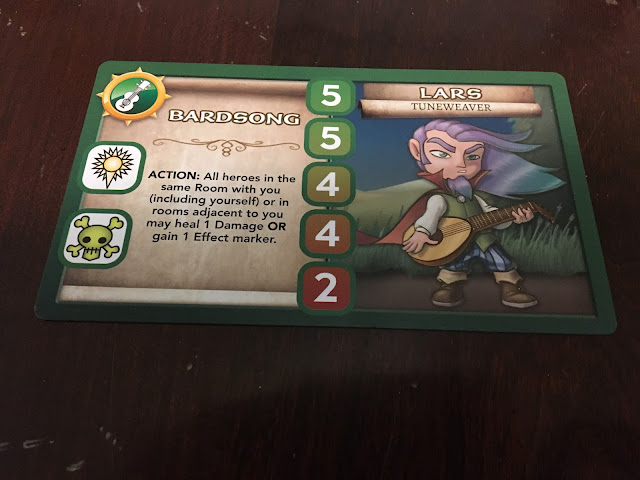 Wakening Lair Hero Card Lars Tuneweaver Bardsong Rather Dashing Games