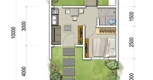 lingkar warna: denah rumah minimalis ukuran 5x10 meter 1