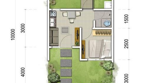 desain rumah ukuran 5x10