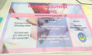Syarat & Cara Daftar Kursus Praperkahwinan Online di Sabah