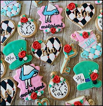 Alice in Wonderland Cookies, Alice in Wonderland  party food