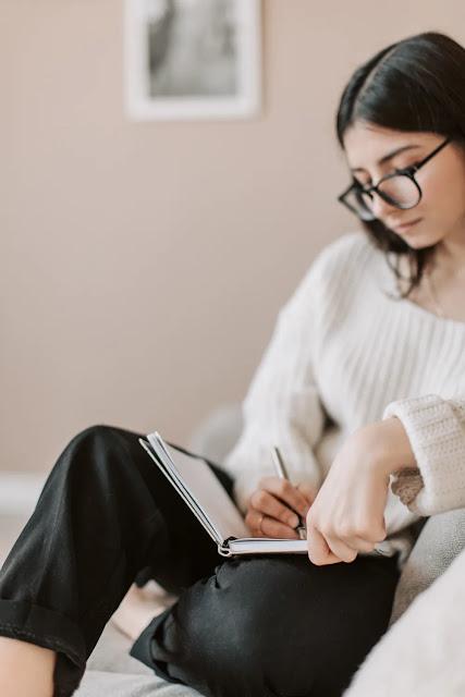 A girl journaling