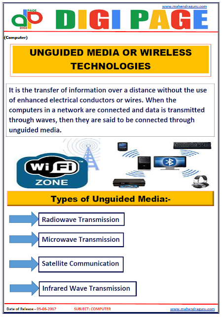 DP | UNGUIDED MEDIA OR WIRELESS TECHNOLOGIES | 9 - JUNE - 17 |