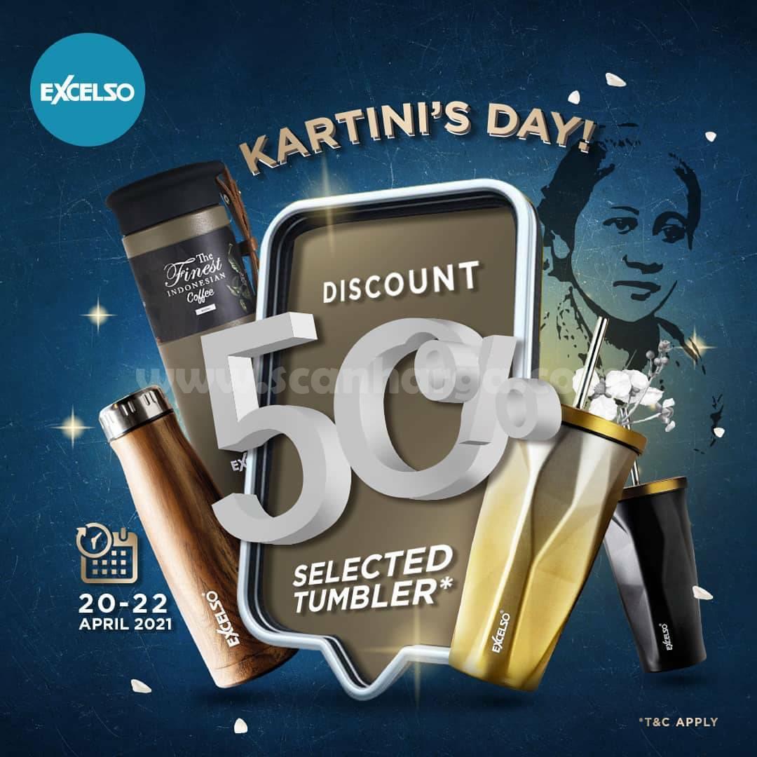 EXCELSO Promo KARTINI'S DAY! Beli Tumbler Diskon 50%